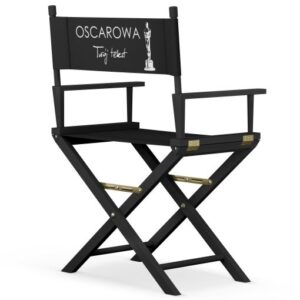 """Krzesło reżyserskie CZARNE """"OSCAROWE"""""""