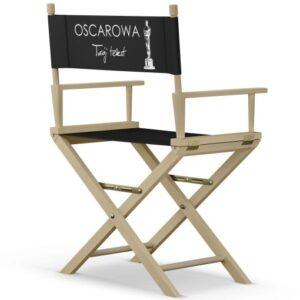 """Krzesło reżyserskie NATURALNE """"OSKAROWE"""""""