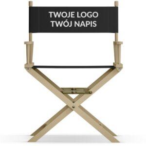 Krzesło reżyserskie Twój napis naturalny dąb