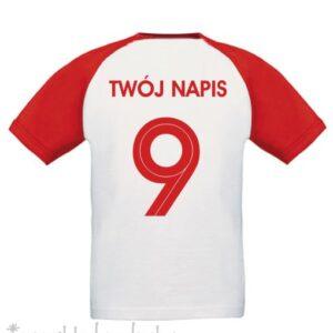 Koszulka kibica z numerem i napisem