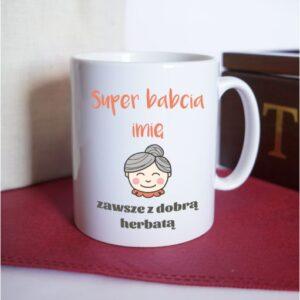 Kubek prosty SUPER BABCIA, 300ml