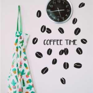 Zestaw naklejek COFFEE TIME, ziarenka kawy