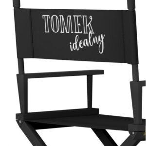 """Krzesło reżyserskie CZARNE """"IDEAŁ"""""""