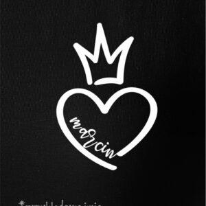 Koszulka z sercem TWOJE IMIĘ na walentynki DLA NIEJ