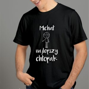 T-shirt dla najlepszego chłopaka, Twoje imię