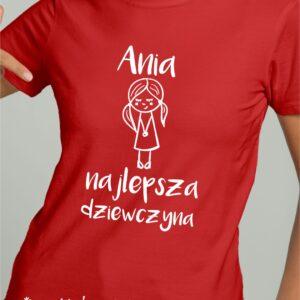 T-shirt dla najlepszej dziewczyny, Twoje imię